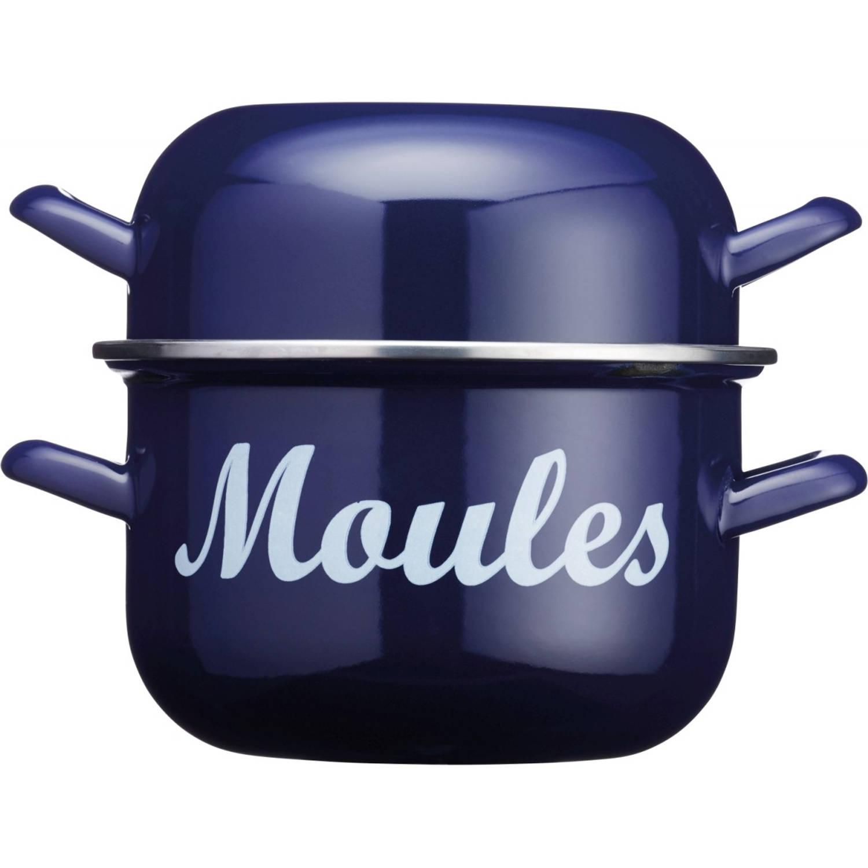 Emaille Mosselpan Blauw, 2.5 Liter KitchenCraft World of Flavours