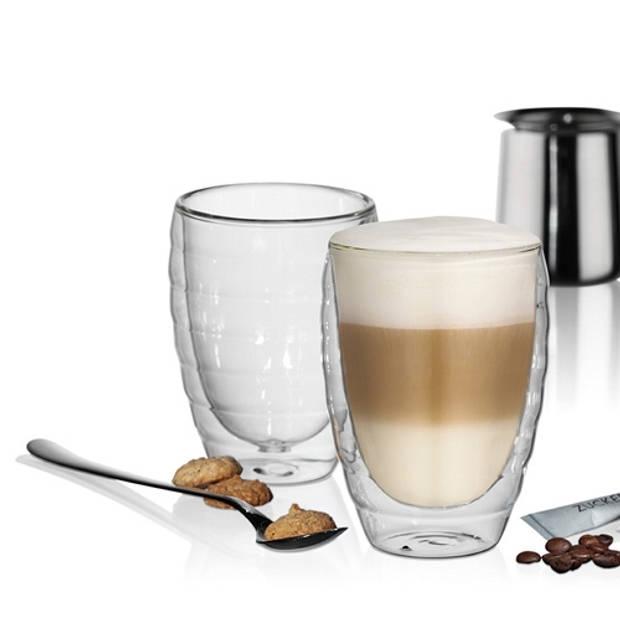 Latte-Macchiatoglas, set van 2 - Kela Cesena