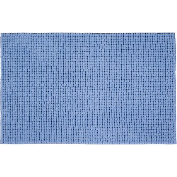 Blokker Badmat chenille - Blauw - 50 x 80 cm