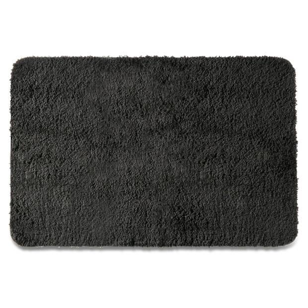 Blokker badmat - zwart - 60x90 cm