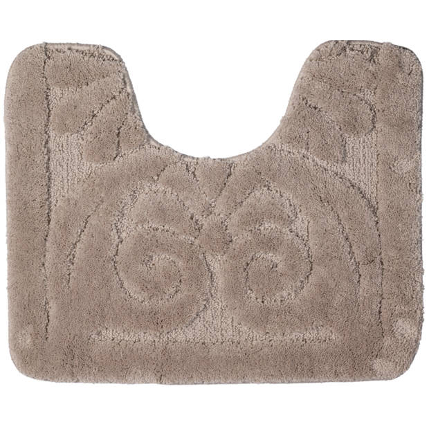 Blokker Toiletmat reliëf - Taupe - 60 x 50 cm