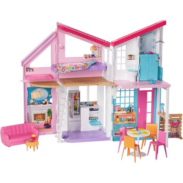 Barbie poppenhuis Malibu meisjes 90 cm roze/wit