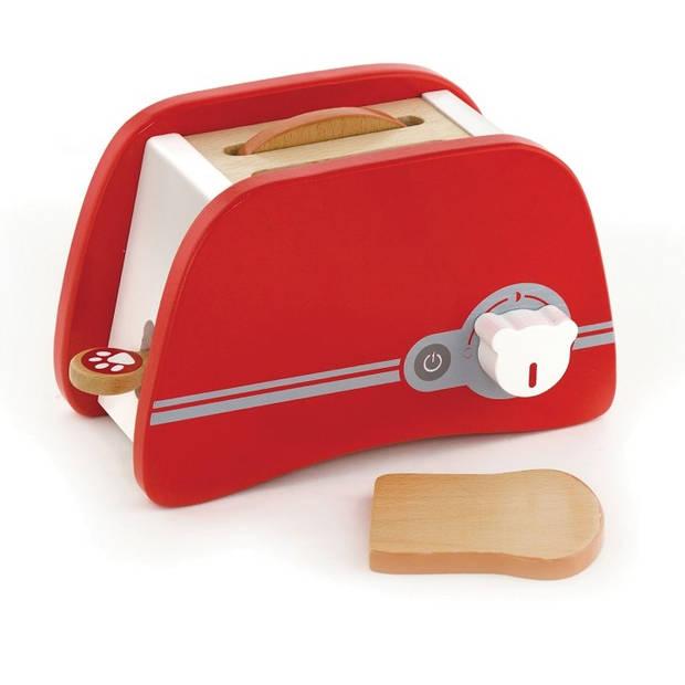 Viga Toys broodrooster 20 cm rood