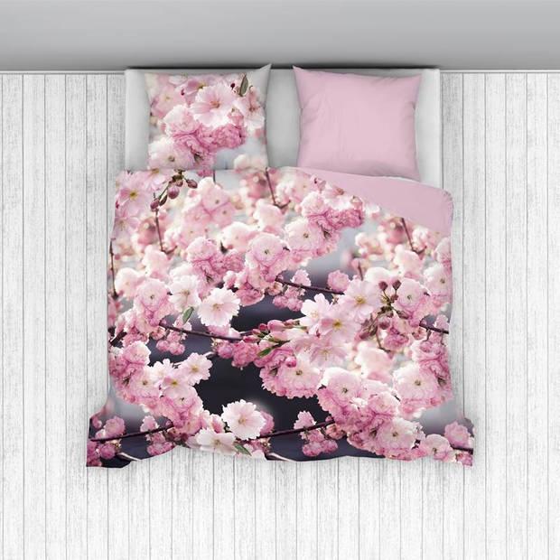 Snoozing Sakura dekbedovertrek - Lits-jumeaux (260x200/220 cm + 2 slopen) - Katoen - Roze
