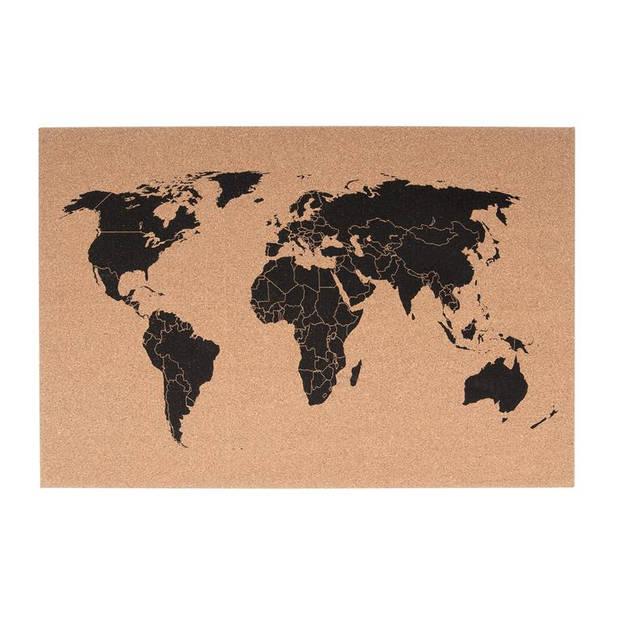pt - Memobord World Map - bruin