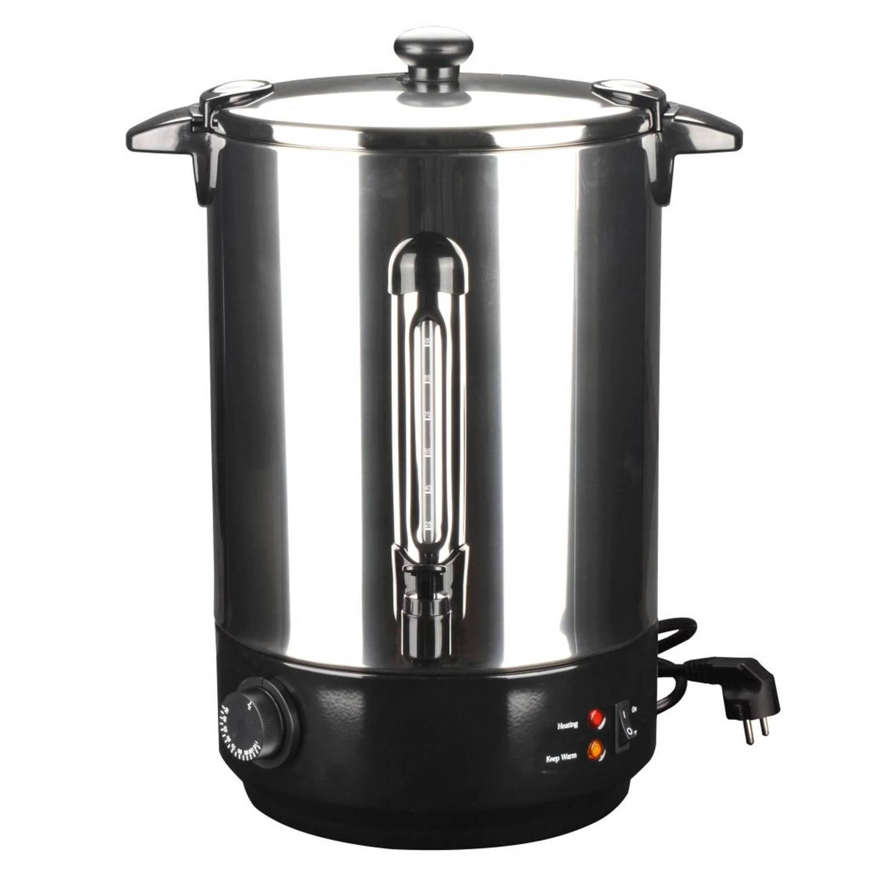 vidaXL Wijn verwarmer 15 L 2500 W roestvrij staal