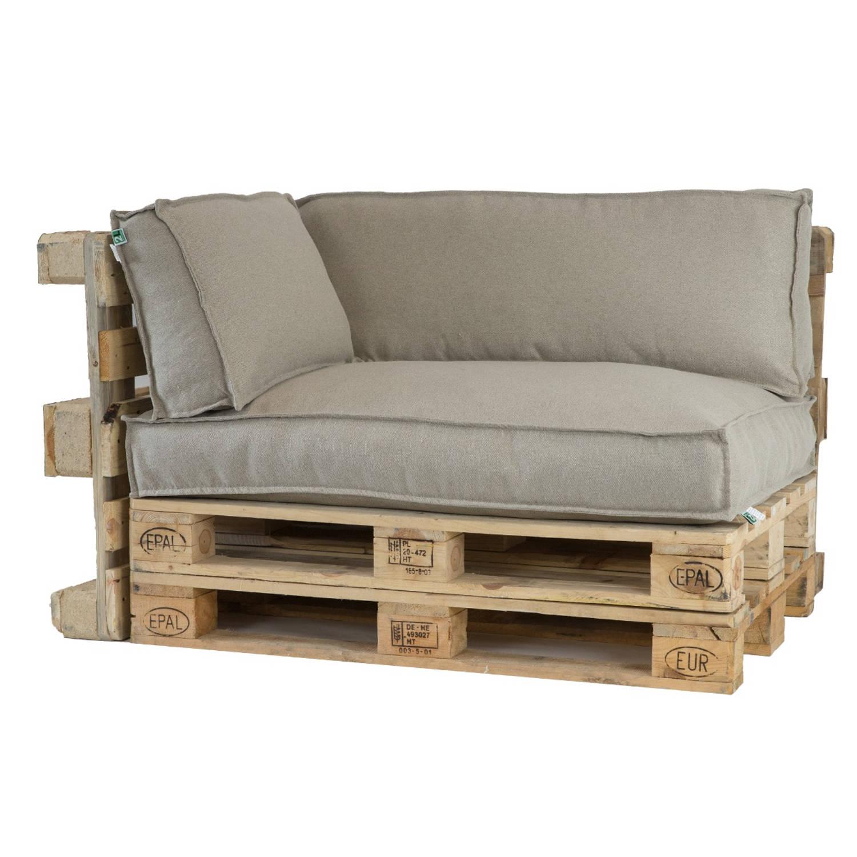 2L Home Garden Palletkussenset Metro Lounge Beige 3 delige set