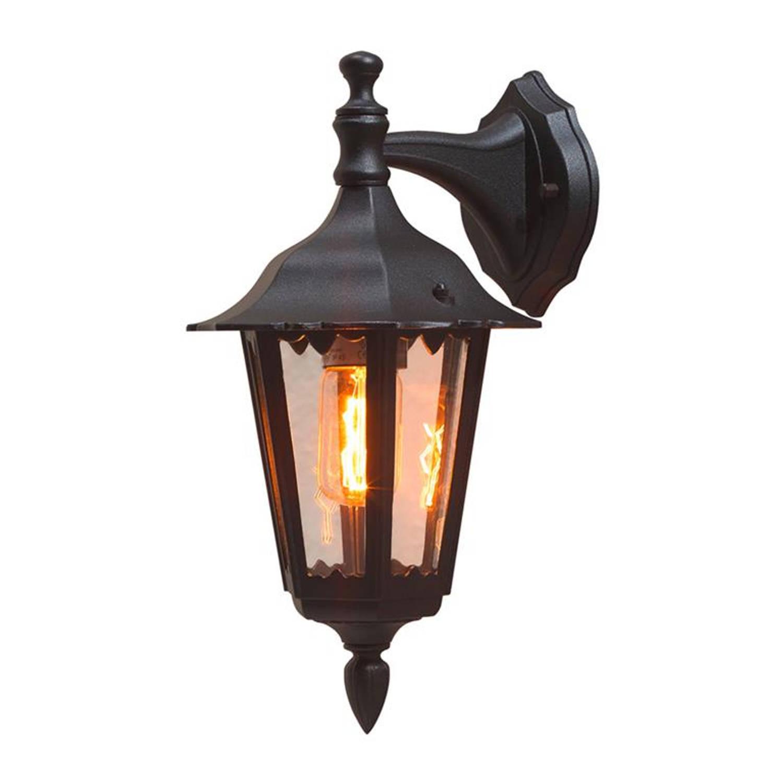 Konstsmide - Buitenlamp Firenze Wand Neerw, E27, 60w, Matzwart