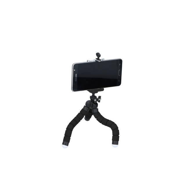 """Grundig Smartphonestatief - Schermgrootte 4-6"""" - Flexibel - Zwart"""