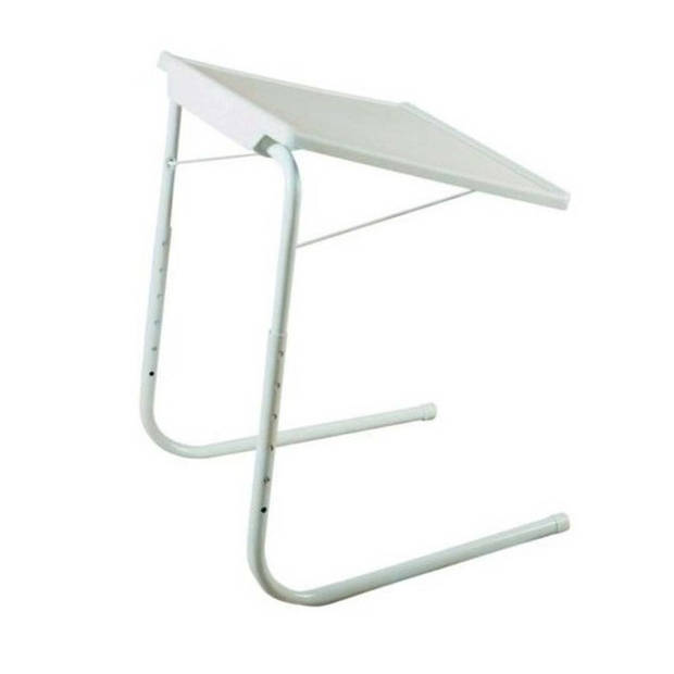 MESA LIVING Verstelbare tv-klaptafel Tavolino wit