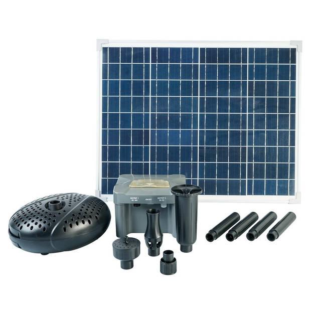SolarMax 2500 Accu incl. solarpaneel, fonteinpomp en oplaadaccu