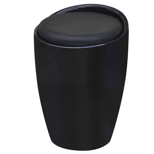 vidaXL Kruk kunstleer zwart