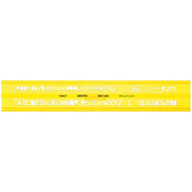 lettersjabloon Aristo 7mm H-profiel schriftvorm B recht
