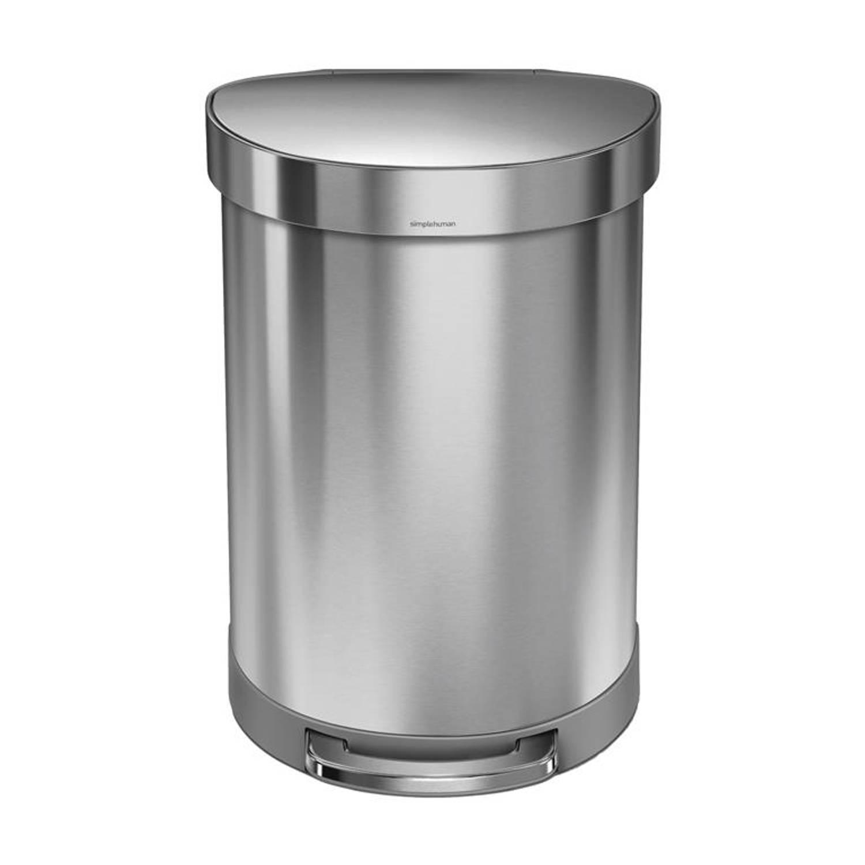 Simplehuman Pocket Prullenbak 60 Liter Zilver