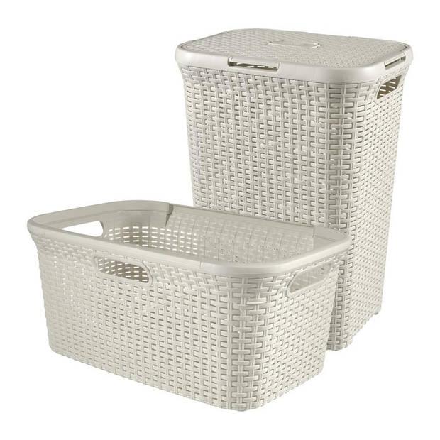 Curver - Style set Wasbox Wasmand, 60L 45L, wit