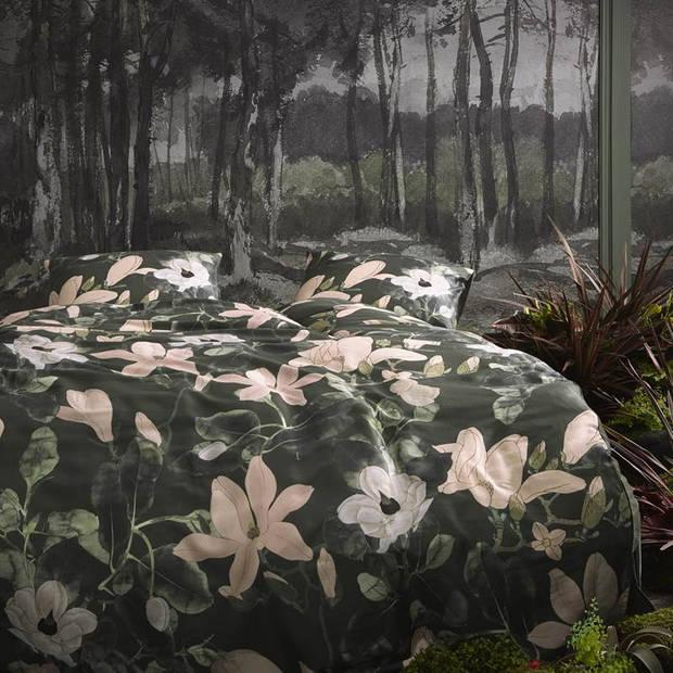 Essenza Luna dekbedovertrek - 1-persoons (140x200/220 cm + 1 sloop) - Katoen satijn - Green
