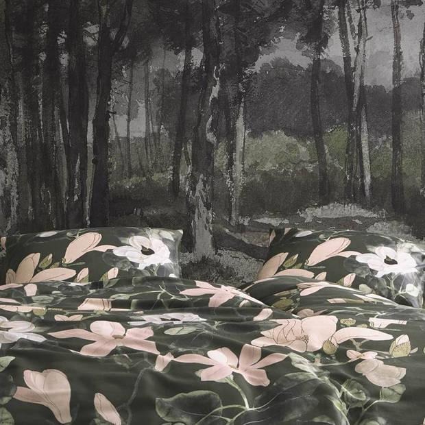 Essenza Luna dekbedovertrek - 2-persoons (200x200/220 cm + 2 slopen) - Katoen satijn - Green