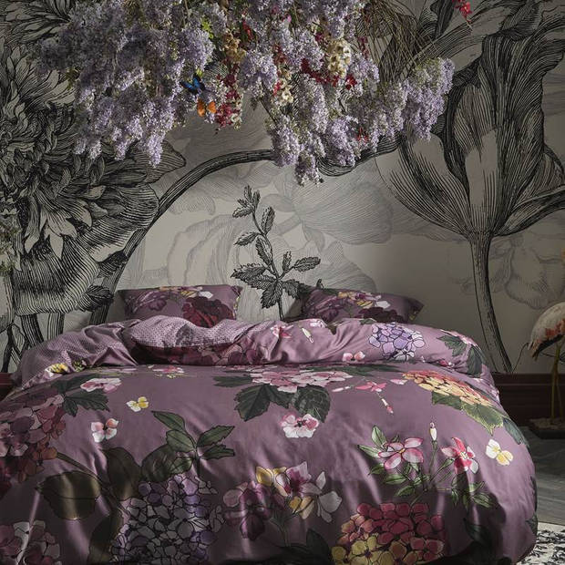 Essenza Diana dekbedovertrek - Lits-jumeaux (240x200/220 cm + 2 slopen) - Katoen satijn - Lilac