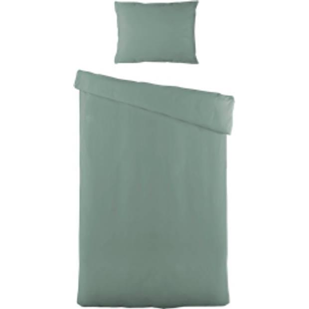 Blokker dekbedovertrek uni 140x220 cm - groen