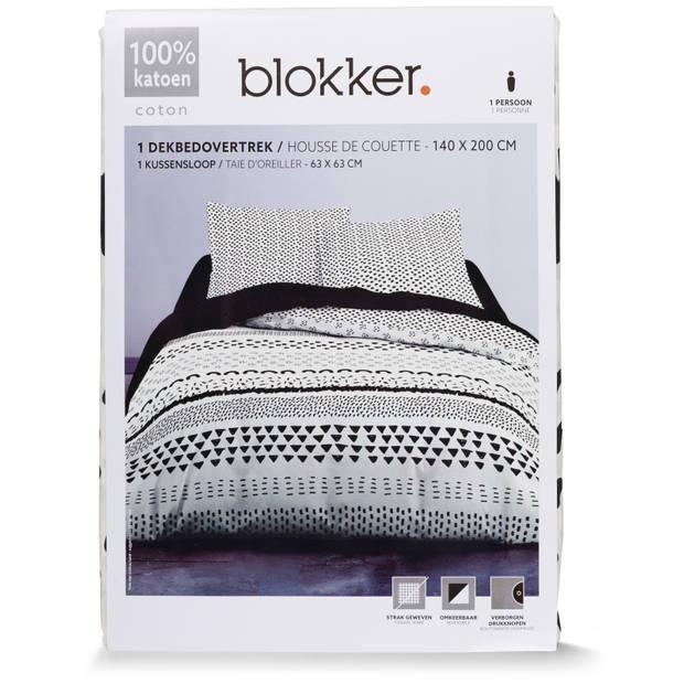 Blokker dekbedovertrek - 140x200 cm - Anne