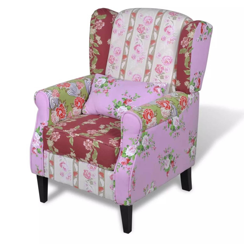 Patchwork Bloemendesign fauteuil