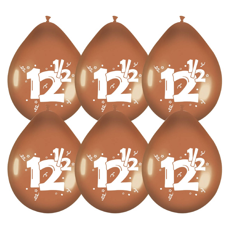 Korting Haza Original Ballonnen Brons Met Opdruk 12½ Cm 6 Stuks