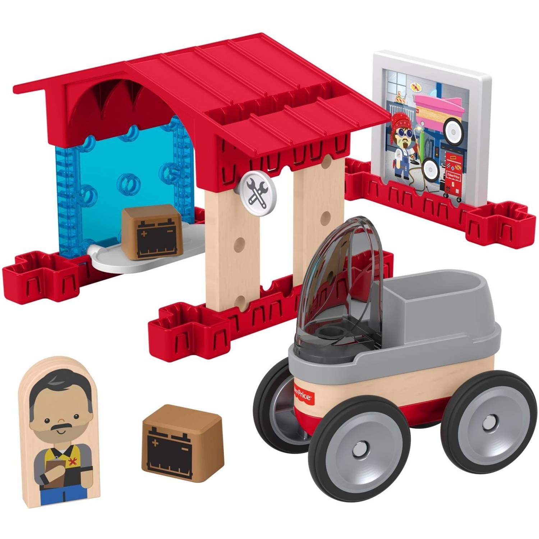 Fisher Price bouwpakket Wonder Makers Garage hout 15 delig