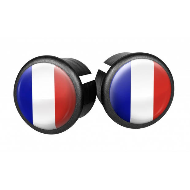 Velox stuurdoppen Frankrijk 20 mm blauw/wit/rood