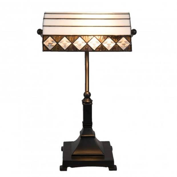 Clayre & Eef bureaulamp tiffany 26x20x43 cm e27/max 1x60w