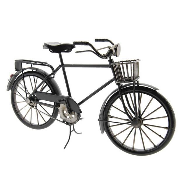 Model fiets - 29*10*16 cm - meerkleurig - metaal - staand - ijzeren heren fiets - Clayre & Eef - FI0010