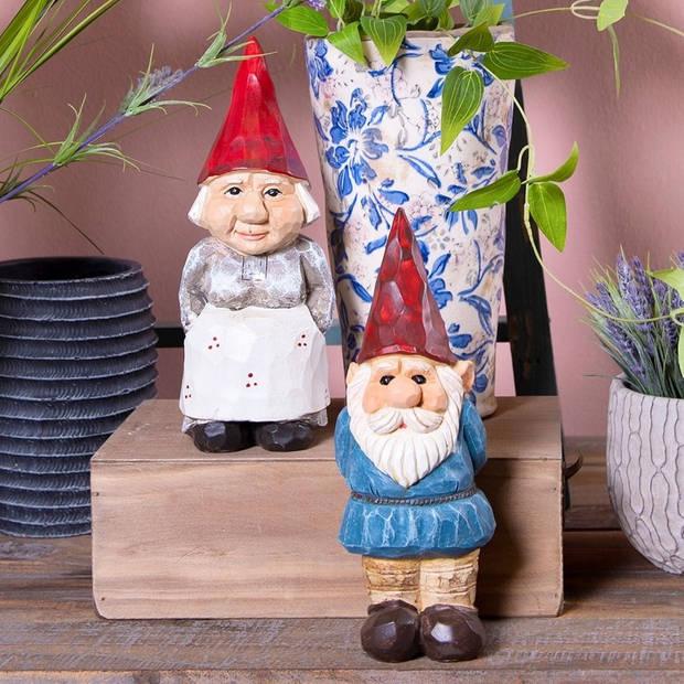 Decoratie kabouter - 7*8*26 cm - meerkleurig - kunststof - kabouter - Clayre & Eef - 6PR2395