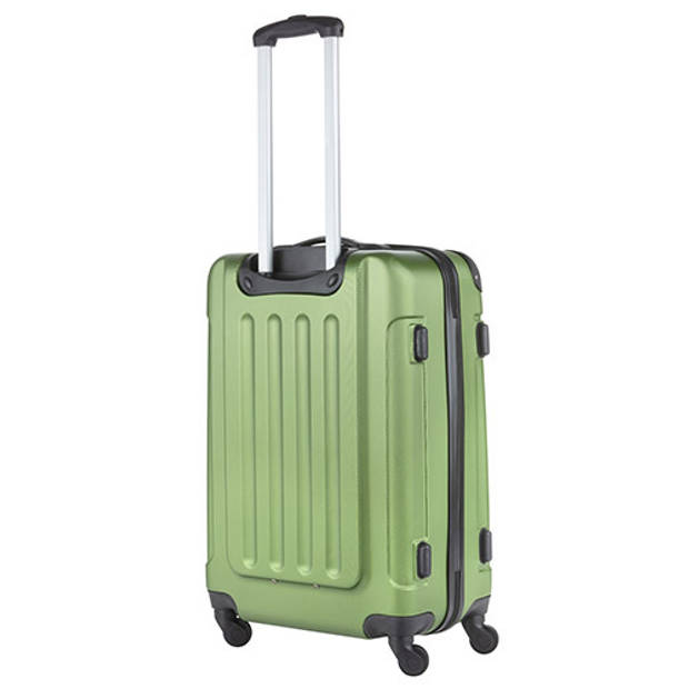 TravelZ - Lichtgewicht ABS koffer - Reiskoffer Trolley 66cm - Gevoerde binnenkant - Khaki
