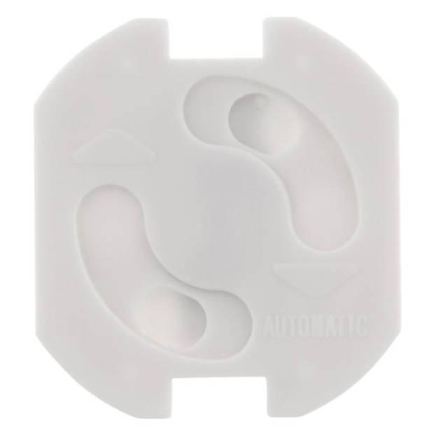 Q-LINK Stopcontactbeveiliger zelfklevend wit verpakt per 10 stuks