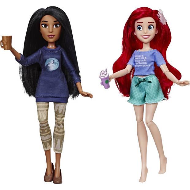 Hasbro Disney Princess poppen Ariël en Pocahontas 26 cm multicolor