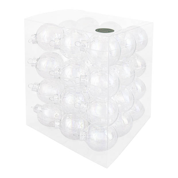 Decosy Glas Kerstballen (6cm) Box 36 Stuks Clear Pearl