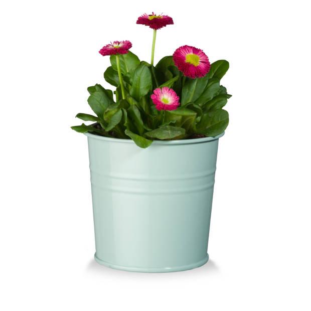 Bloempot Metaal Mint 14 cm