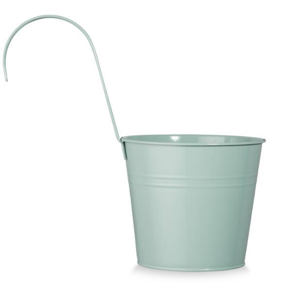 Balkonpot Metaal Mint Dia 16 cm