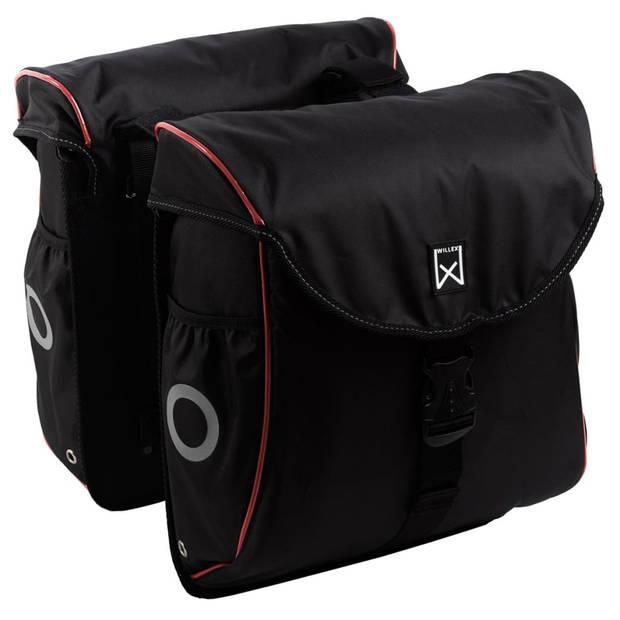 Willex Fietstassen 300 Flexi 24 L zwart en rood