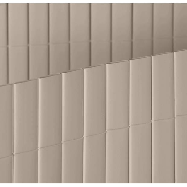 Intergard Tuinscherm PVC tuinafscheiding balkonscherm grijs 1x3m