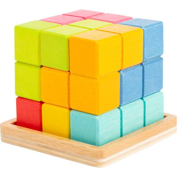 Small Foot houten 3D Tetris-kubuspuzzel junior 6 cm 8-delig