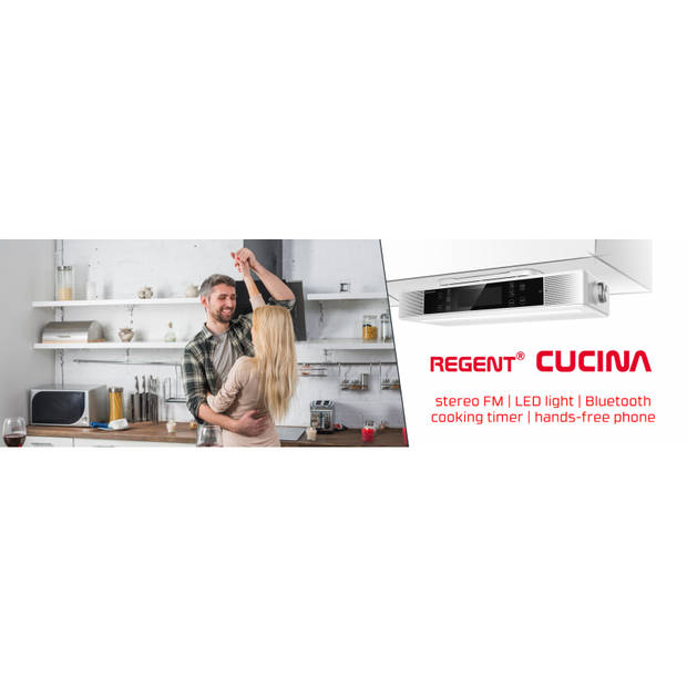 Ferguson Regent Cucina - Bluetooth keukenradio met timer