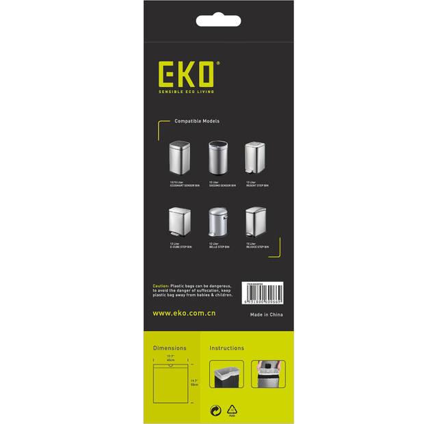 EKO Afvalzakken met trekbandsluiting - 10/15 L - Type C - 20 stuks