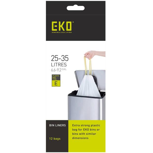 EKO Afvalzakken met trekbandsluiting - 25/35 L - Type E - 12 stuks