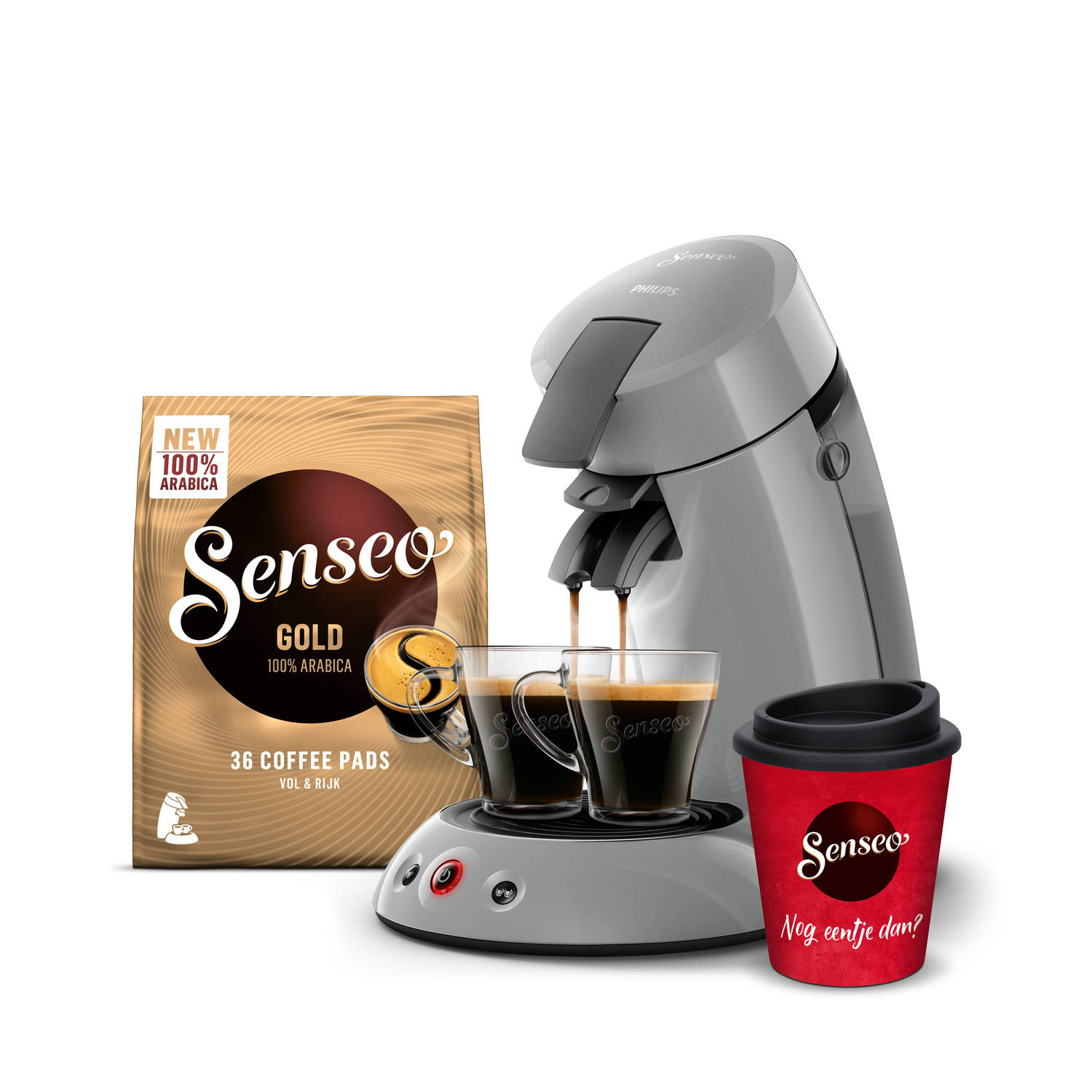 Philips SENSEO® Original koffiepadmachine HD6553/70 - bundel