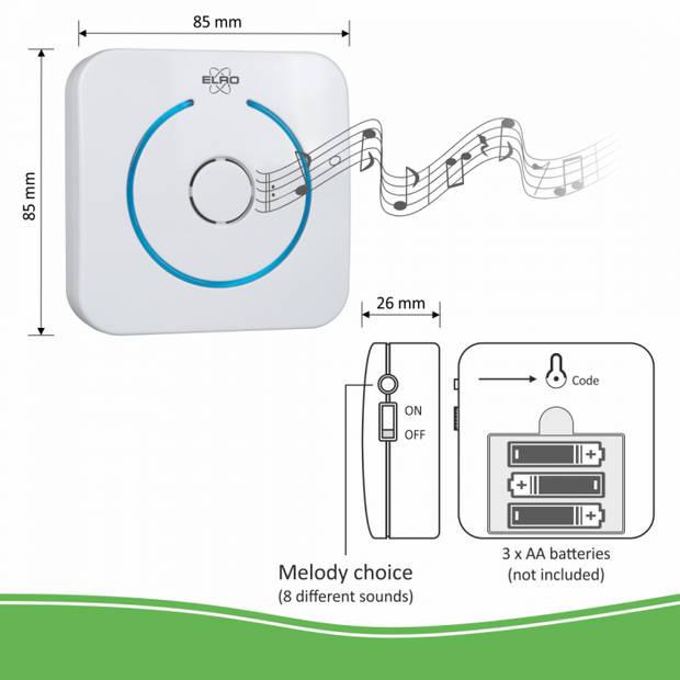 ELRO DVC040IP2 Video IP Deurintercom Systeem met Applicatie en 2 Draadloze Deurbellen
