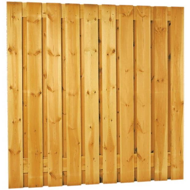 Intergard Schutting tuinscherm zichtdicht 21 planks 180x180cm RVS