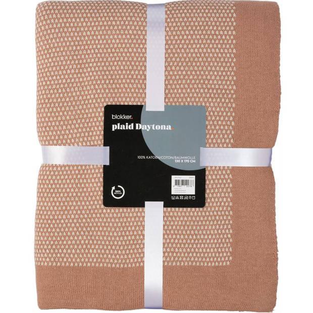 Blokker plaid Daytona - roze - 130x170 cm