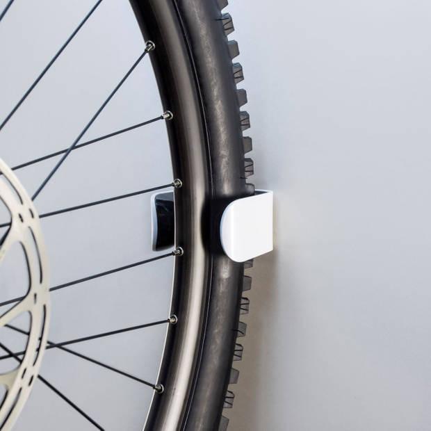 Clug MTB Fiets Clip voor de muur - Wit/zwart