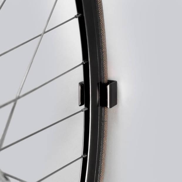 Clug Roadie Fiets Clip voor de muur - Zwart/zwart