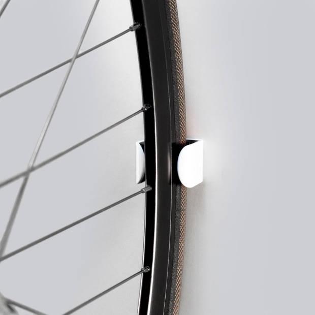 Clug Roadie Fiets Clip voor de muur - Wit/zwart